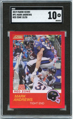 15/20 2019 Score Football Mark Andrews RED ZONE Card #91