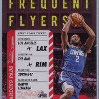 2020-21 Hoops Basketball Holo Foil Kawhi Leonard FREQUENT FLYERS #13
