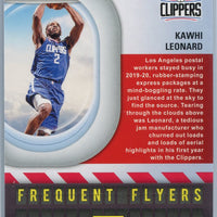 2020-21 Panini NBA HOOPS Basketball FREQUENT FLYERS Holo Foil Kawhi Leonard card number 13 Clippers