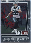 2020 Absolute Football Christian McCaffrey RED ZONE Card #RZ-CM