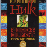 1994 FLEER Marvel Cards Universe First Addition Hulk Limited Edition Power Blast #five of nine