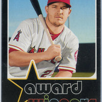 2020 Topps Heritage High Number Mike Trout AWARD WINNERS AW-1