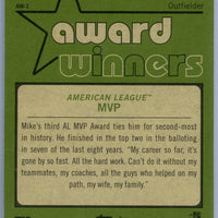 2020 Topps Heritage High Number baseball Mike Trout award winners card number AW-1 Angels