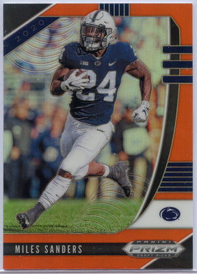2020 Prizm Draft Picks Football Miles Sanders Orange Prizm card #76 Penn State