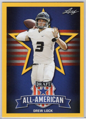 Drew Lock 2019 Leaf Draft Yellow #75 Card