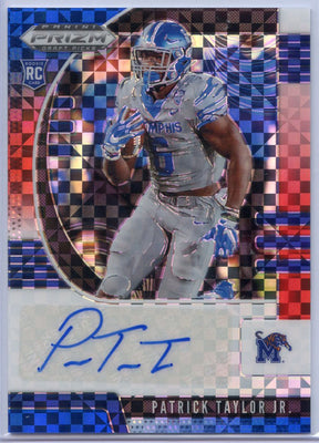 30/99 2020 Prizm Draft Picks Patrick Taylor Jr Autograph Rookie Card Red White Blue Prizm #247