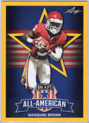 Marquise Brown 2019 Leaf Draft All-American Yellow #78 Card
