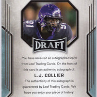 LJ Collier autograph rc leaf draft 2019