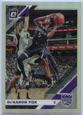 2019-20 Donruss Optic Basketball De'Aaron Fox Silver Prizm Card #57