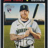 2020 Topps Heritage High Number Jake Fraley Rookie Card #547