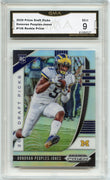 2020 Prizm Draft Picks Donovan Peoples-Jones SILVER PRIZM Rookie Card #136 Michigan WR GMA 9