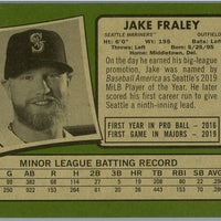2020 Topps Heritage High Number baseball Jake Fraley rookie card number 547 Mariners outfielder