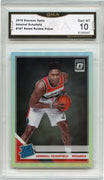 2019-20 Donruss Optic Admiral Schofield HOLO Silver Rookie Card #187 GMA 10