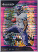2019 Panini Prizm Draft Picks David Johnson Pink Pulsar #27