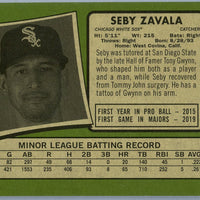 2020 Topps Heritage High Number baseball Seby Zavala rookie card number 674