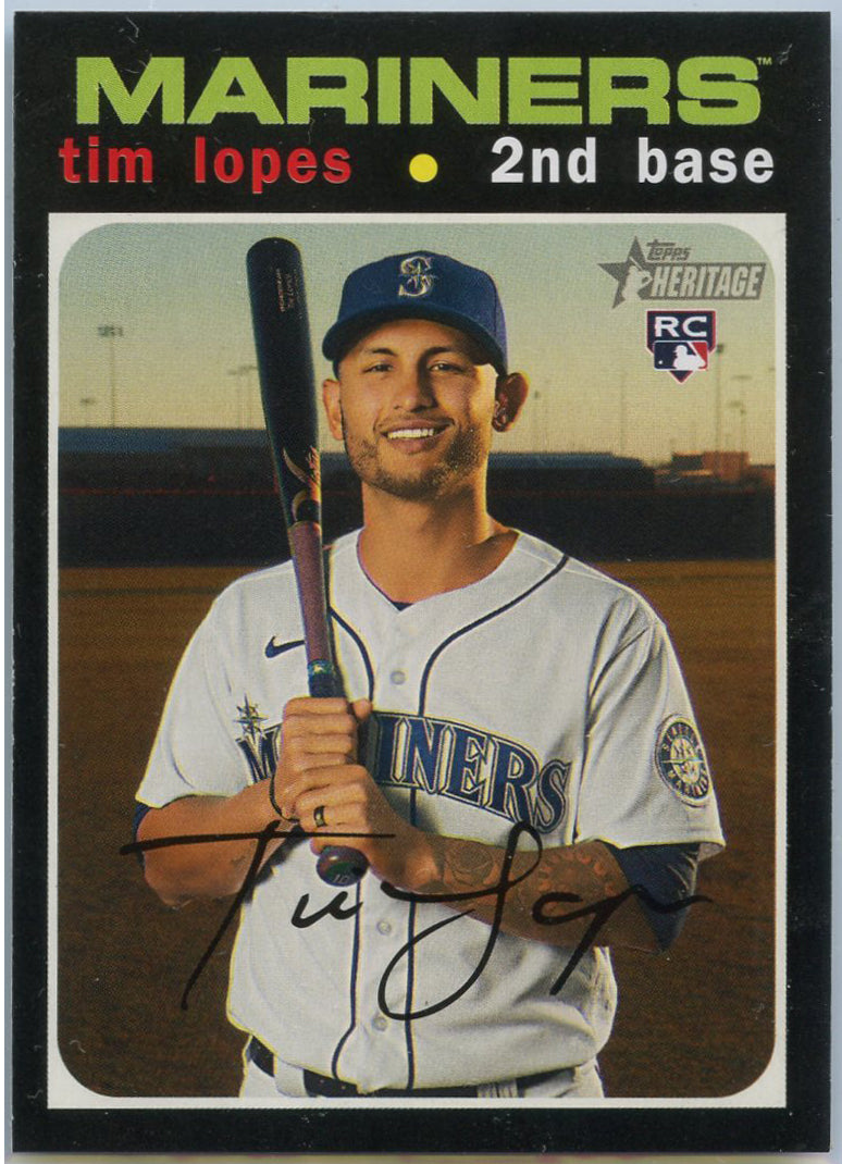 2020 Topps Heritage High Number Tim Lopes Rookie Card #606