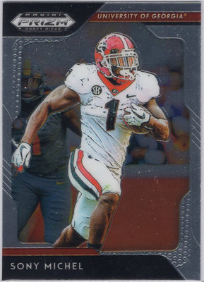 2019 Panini Prizm Draft Picks Sony Michel #88 Georgia card