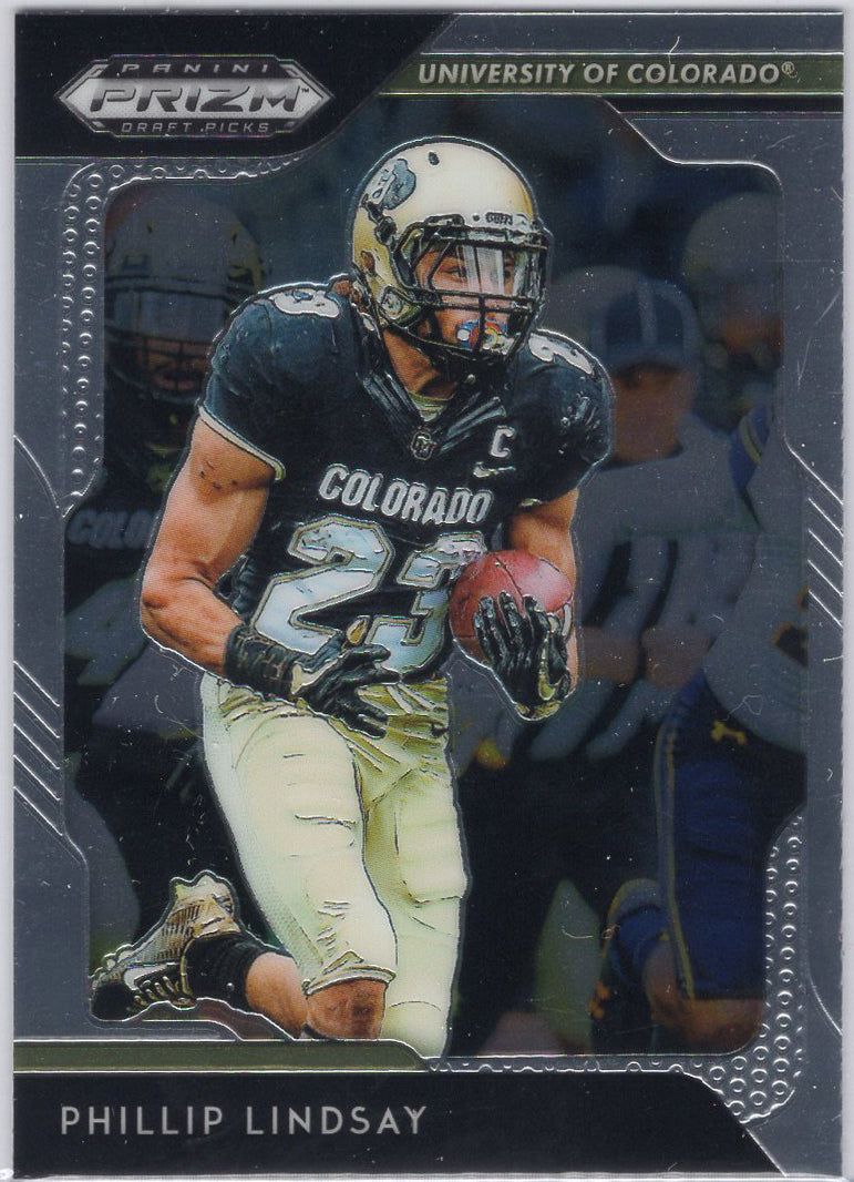 2019 Panini Prizm Draft Picks Phillip Lindsay #76 University of Colorado card