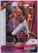 2020 Prizm Draft Picks Collin Johnson PINK PRIZM Rookie Card #112 Longhorns WR