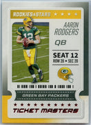 2020 Rookie & Stars Ticket Masters Aaron Rodgers card #2 Green Bay Packers QB