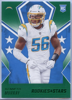2020 Rookie & Stars Kenneth Murray Rookie Card Green Parallel #145 Los Angeles Chargers Linebacker