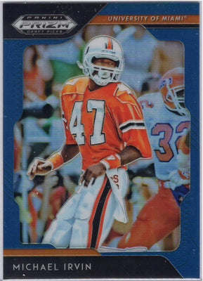 2019 Panini Prizm Draft Picks blue Michael Irvin #65 card