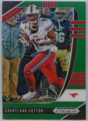 2020 Prizm Draft Picks Courtland Sutton GREEN PRIZM Football Card #18
