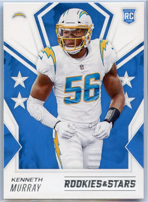 2020 Rookie & Stars Kenneth Murray  Rookie Card #145 Los Angeles Chargers linebacker
