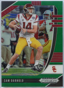 2020 Prizm Draft Picks Sam Darnold GREEN PRIZM Football Card #87 USC / Jets QB