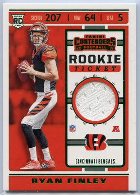 Ryan Finley Rookie Ticket Jersey Patch Card #RTS-16 2019 Contenders Football