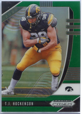 2020 Prizm Draft Picks TJ Hockenson GREEN PRIZM Football Card #94