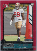 2020 Playbook Football Javon Kinlaw Rookie Card #147 49ers Defensive Tackle
