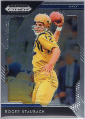 2019 Panini Prizm Draft Picks Roger Staubach Navy #80 Card