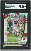 2020 Prizm Draft Picks Jonathan Taylor SILVER PRIZM Rookie Card #106 Badgers running back SGC 9.5