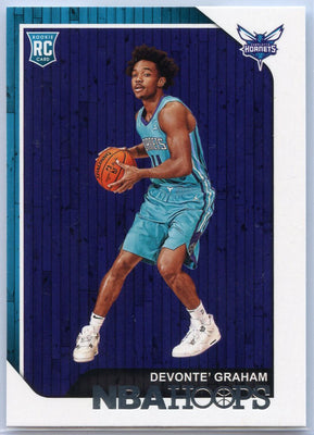 Devonte' Graham Rookie Card #253 2018-19 Panini NBA HOOPS Basketball Hornets