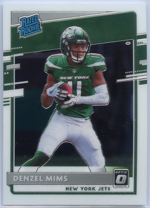 2020 Donruss Optic Football Denzel Mims RATED ROOKIE #173 New York Jets
