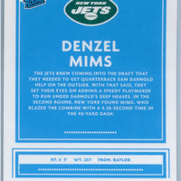 2020 Panini Donruss Optic Football Denzel Mims RATED ROOKIE card number 173 Jets