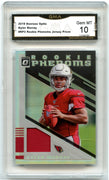 2019 Donruss Optic Kyler Murray Rookie Phenoms Jersey Prizm Card #RP2 graded Gem Mint 10 GMA