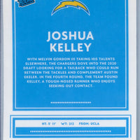 2020 Panini Donruss Optic Football Joshua Kelley RATED ROOKIE card number 188 Chargers