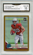 2019 Donruss Optic Andy Isabella BRONZE PRIZM Rated Rookie Card #176 graded gem mint 10 GMA