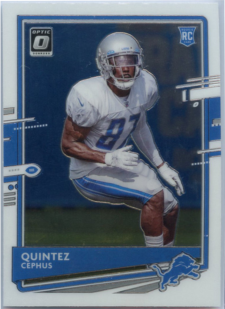 2020 Donruss Optic Football Quintez Cephus #130 Rookie card