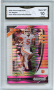 2020 Prizm Draft Picks Tee Higgins PINK PRIZM Rookie Card #107 Clemson Graded Gem Mint 10 GMA