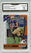 2020 Prizm Draft Picks Jacob Eason ORANGE PRIZM Rookie Card #115 Graded Gem Mint 10 GMA