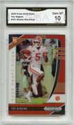 2020 Prizm Draft Picks Tee Higgins RED PRIZM Rookie Card #107 Graded Gem Mint 10 GMA