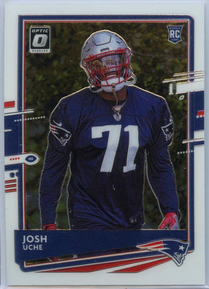 2020 Donruss Optic Football Josh Uche rookie card #137