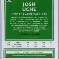2020 Panini Donruss Optic Football Josh Uche rookie card number 137 Patriots