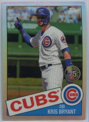 2020 Topps Chrome Kris Bryant Retro 1985 85TC-9 Cubs