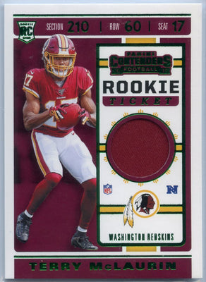 2019 Contenders Football Terry McLaurin Rookie Ticket Patch #RTS-30