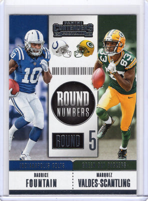2018 Panini Contenders MVS and Daurice Fountain Round Numbers Card
