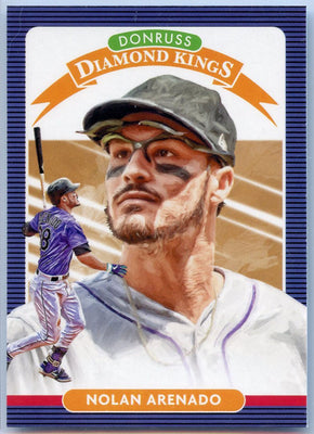 2020 Donruss Diamond Kings Baseball Nolan Arenado Card #29 Colorado Rockies